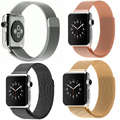 Stainless Steel Bracelet Strap For Apple Watch Band Milanese Loop magnetic With Connector Adapter For iwatch Watchband 38mm 42mm