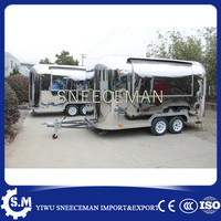 CE mobile food tilt truck cleaning cart mobile food cart with wheels