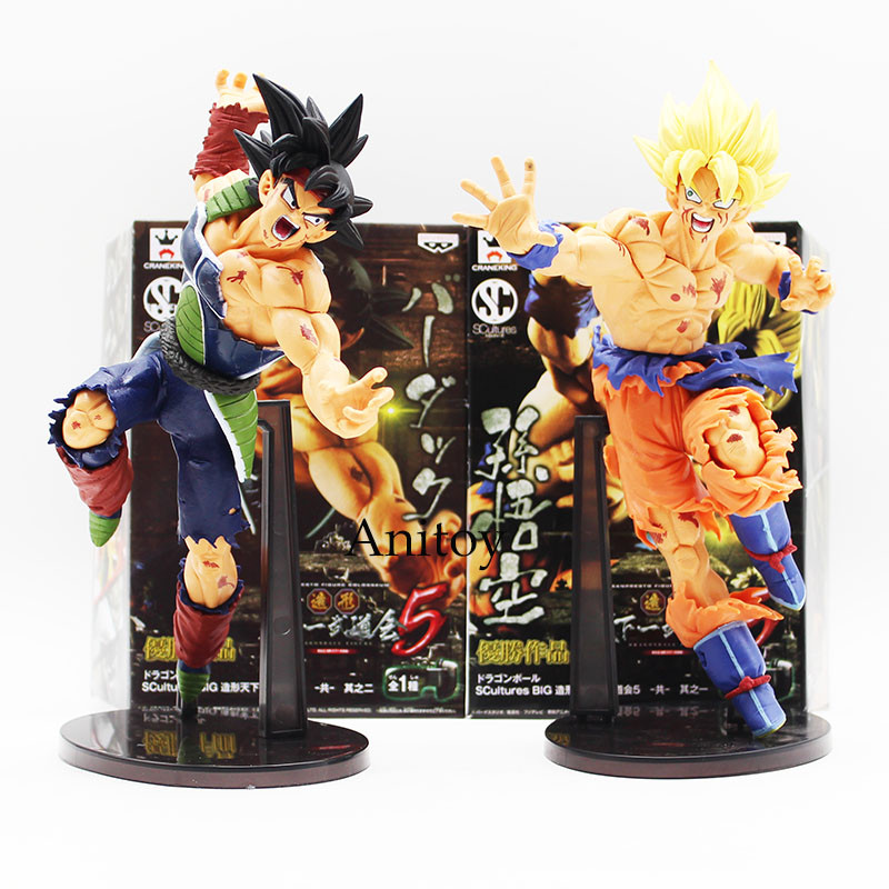 22CM Dragon ball Z SCultures BIG Resurrection Of F Styling God Super Saiyan Son Goku Bardock PVC action Figure Toy KT1759 dragon ball z super big size super son goku pvc action figure collectible model toy 28cm kt3936