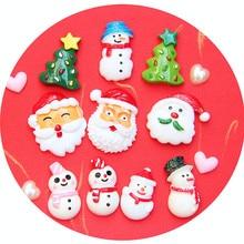 8pcs Slime Charms Christmas Tree Resin Plasticine Slime Accessories Beads Making Supplies for Kid DIY Lizun Slime for Kid Gift E
