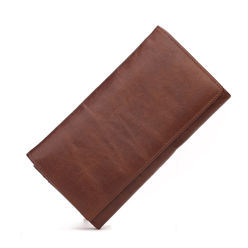 2018 New men wallets Casual wallet Multi-card bit purse Clutch bag Brand Genuine Leather wallet long design Retro man bags gift