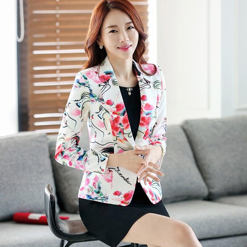 1d1adeb9ab Lenshin nueva moda chaqueta Floral para mujeres manga larga chaqueta abrigo  chaquetas botón ropa de mujer Tops en Chaquetas y americanas de La ropa de  las ...