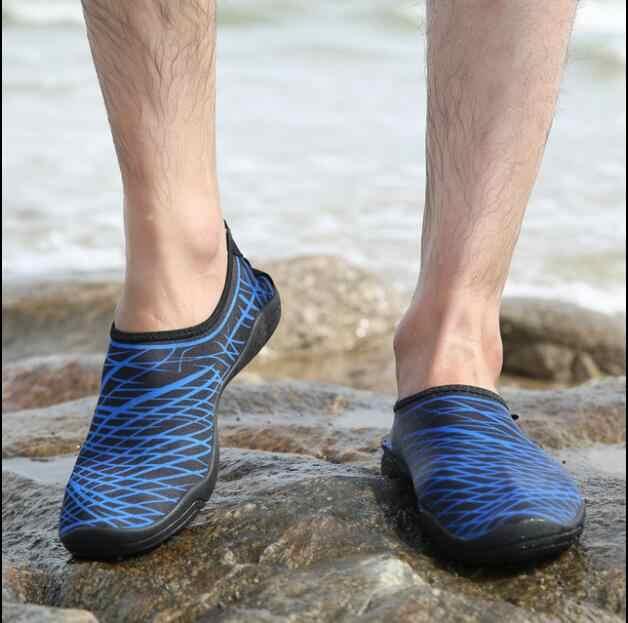 2019 גברים מים נעלי נשים חיצוני Sneaker בריכת שחייה אקווה נעלי צלילה שכשוך החוף יחפים נעלי יוניסקס ים נעלי גודל 3546