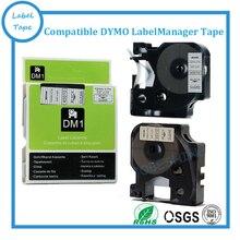 Бесплатная доставка 3pk/lot 12 мм черный на белом DYMO D1 45010 этикеток Совместимы DYMO D1 этикетки ленты
