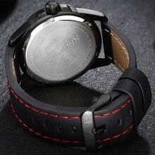 Luxury NAVIFORCE Sports Men Military Leather Waterproof Watch