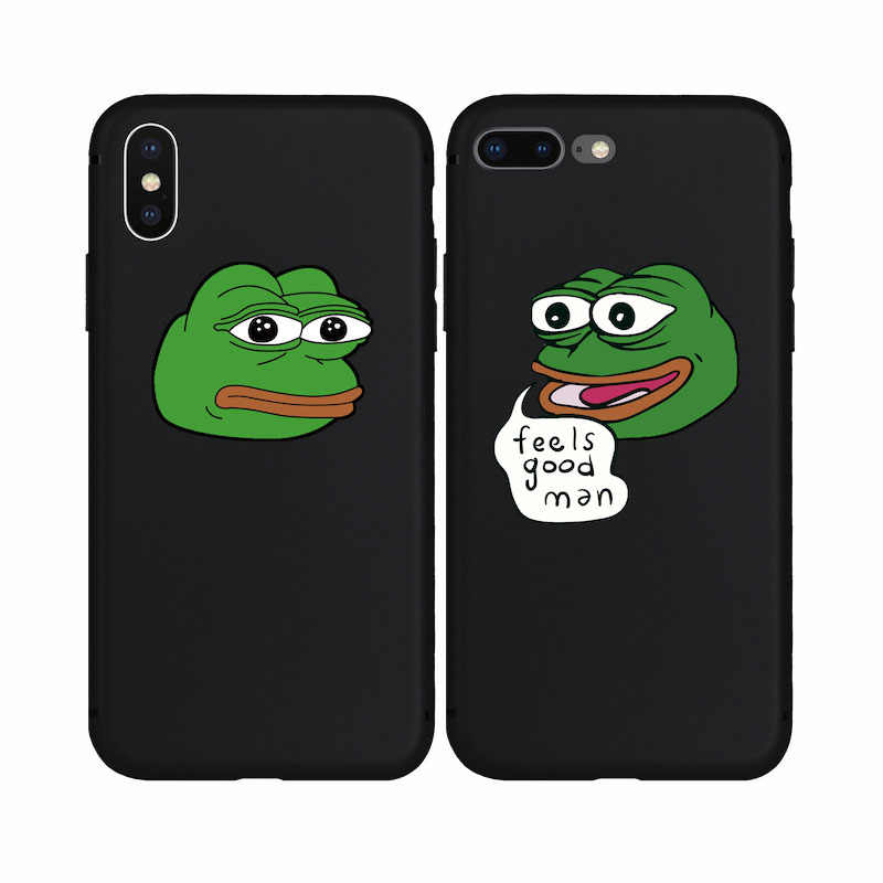 Cool Cartoon Frog Pepe the Frog Meme Fashion TPU Silicone Soft Case for iPhone 7 8 7Plus 8Plus 6s 6 6Plus X 5s 5 SE Phone Cover