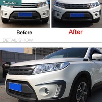 2 PCS DIY Car Styling ABS Plastics Front Fog Light Decorative Sticker Cover Case Stickers For