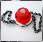 Garden Grass Trimmer Head For Most All Trimmer Brush Cutter Grass Clipper String Slashing With Metal Link Saw Chain 1PCS