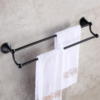 Antique Black/Bronze Solid Brass Towel Rack Double Layers Brushed Towel Bar/Towel Holder Bathroom Accessories Products wo5