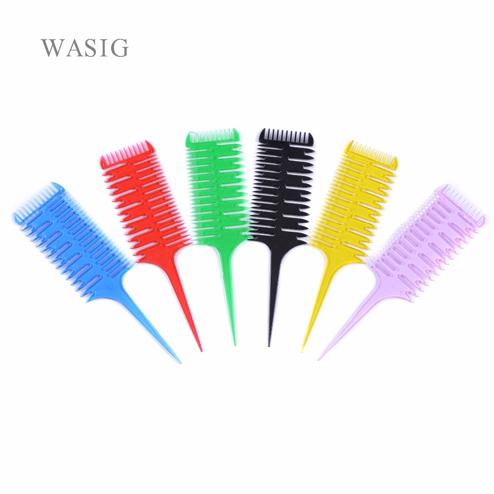 1Pcs Pro Salon Hair Dye Comb Brush Barber Coloring Dyeing Combs Fish Bone Shape Big Tooth Hair Styling DIY Tool