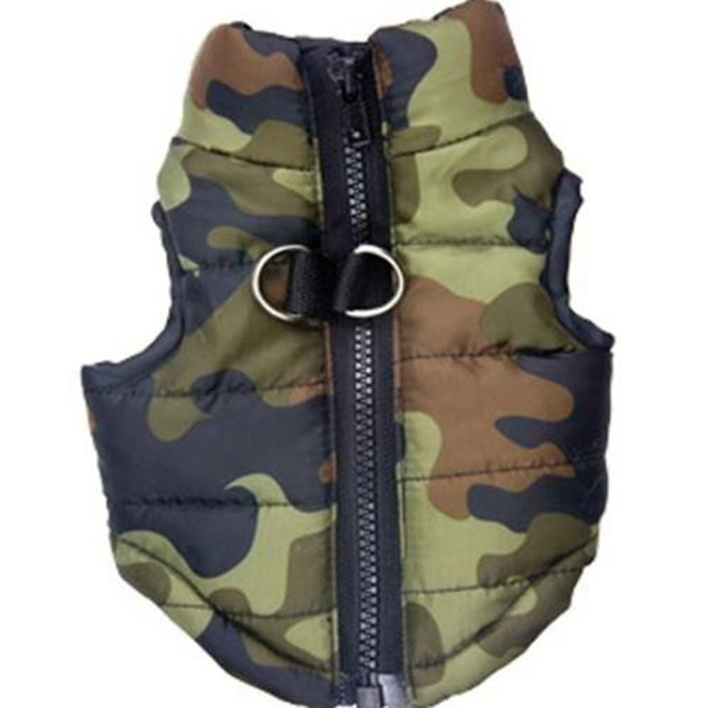 Warm Camouflage Zipper Dog Jacket Coats Pet Dog Clothes For Small Dogs Chihuahua Winter Pitbull French Bulldog Puppy Costume