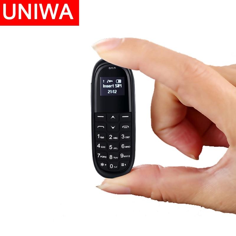 UNIWA KK1 Unlocked Small Cellphone Mini Mobile Phone Kid Bluetooth Wireless Earphone 2G Magic Voice For Seniors And Children