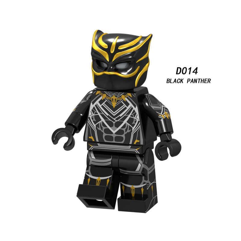 Única Venda Super Heroes Star Wars pantera negra 014 Mini Blocos de Construção Figura Tijolos Brinquedos infantis presente Compatível Legoed Ninjaed
