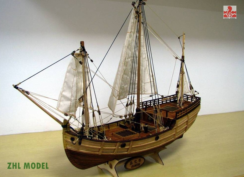 ZHL Pinta model ship wood ingermanland 1715 model ship wood