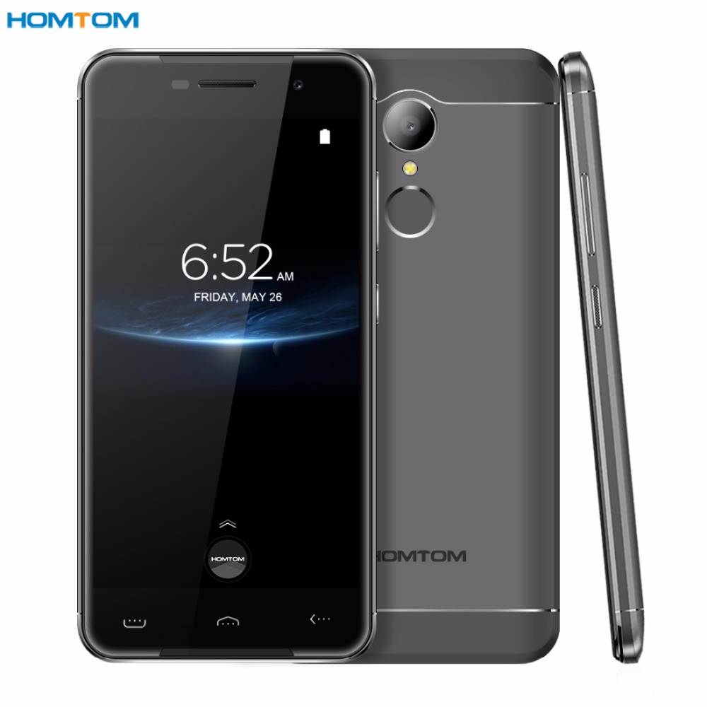 HOMTOM HT37 Pro RAM 3GB ROM 32GB Fingerprint Identification 5.0'' 2.5D Android 7.0 MTK6737 Quad Core up to 1.3Ghz 4G OTG OTA GPS