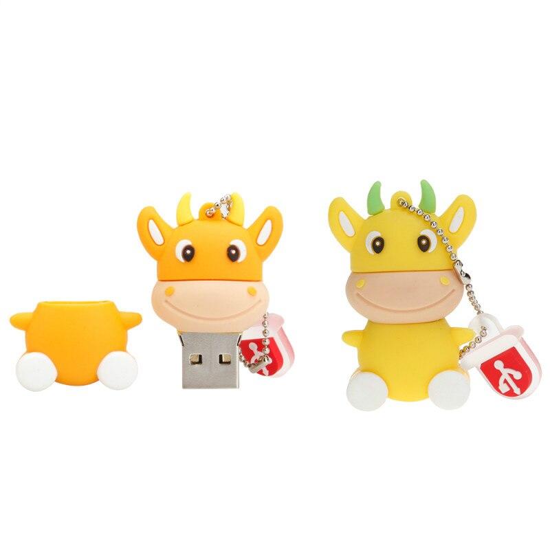Image 5 - Mini USB Flash Drive Cartoon Animal Cow Memory Stick 4GB 8GB 16GB Pen Drive 32GB 64GB 128GB USB 2.0 Pendrive Thumbdrives U Disk-in USB Flash Drives from Computer & Office