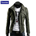 Multi Pocket Design Autumn Men Jacket Stand Collar Personality Basic Jackets Mens Casual Slim Type Coat M-4Xl Hombre Invierno