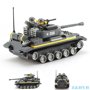 Image 3 - Military Vehicles Sets Tank Panzer Truck Airplane WW2 Mini Soldier Weapon Locking Model Building Blocks Brick Children Kids Toys