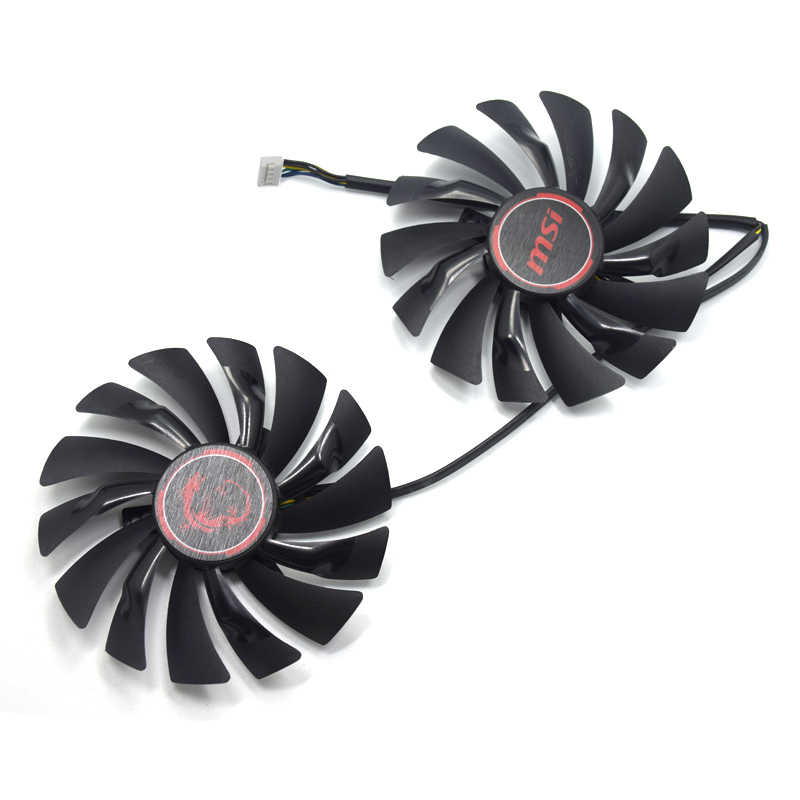 PLD10010S12HH 95mm DC 12V 0.4A 40mm 7Pin Graphics Video Card Cooling Dual Fan