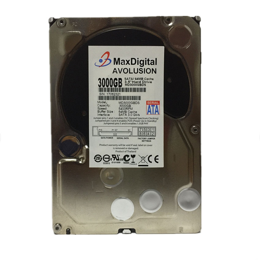 3000GB SATA 3.5 Enterprise Grade Security CCTV Hard Drive Warranty for 1-year hard drive x274a 146g 10k fc x274 3 5 scsi one year warranty