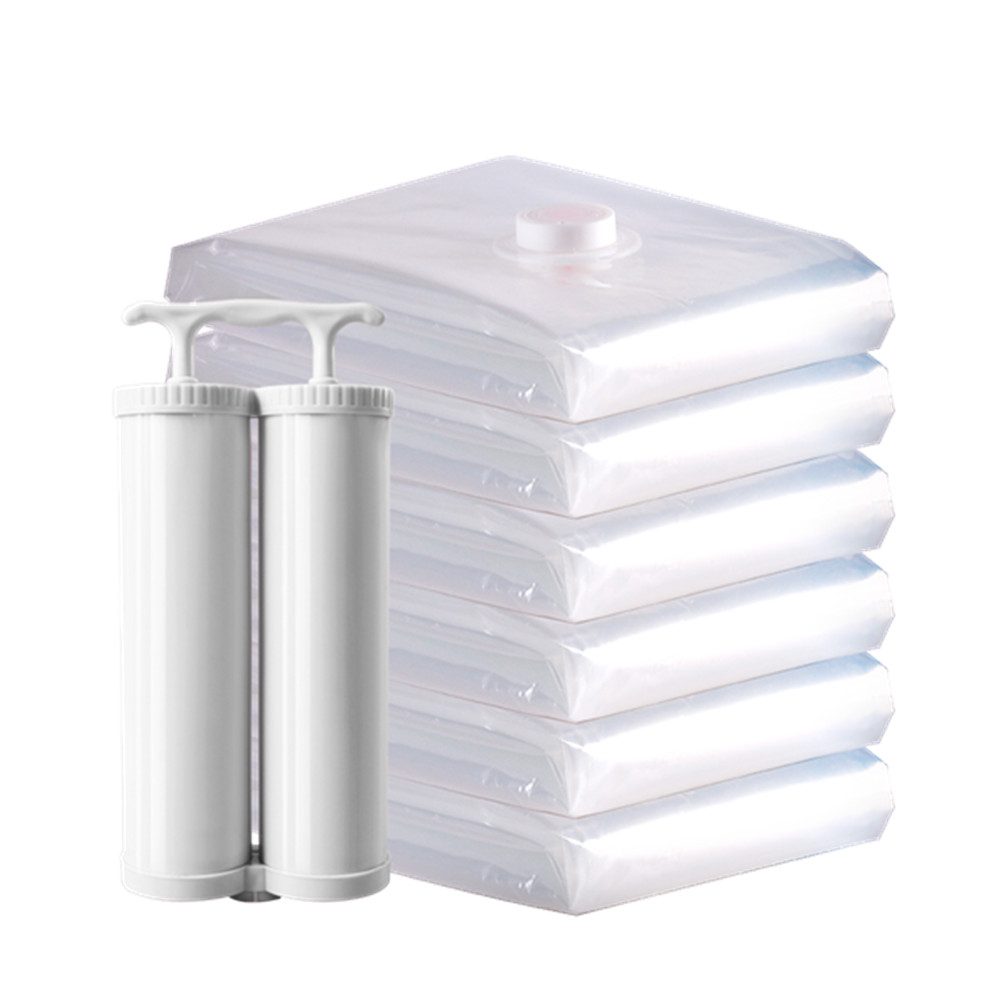 DR STORAGE Transparent Vacuum Bags for Clothes Organizer See Through Space Saver Vacuum Bags Pump Sac