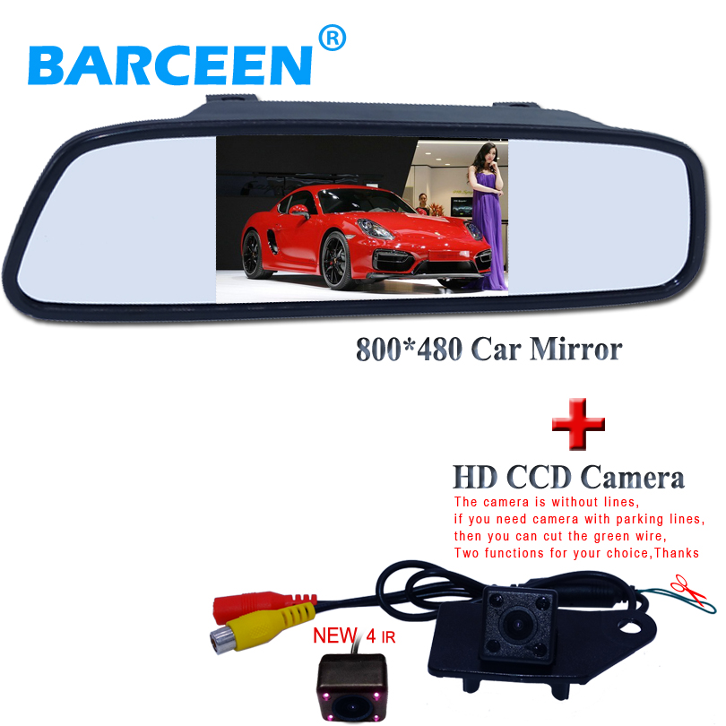 wire car rear view camera ues for MITSUBISHI RVR ASX 2013/014 +800*480 resolution car parking mirror 4.3
