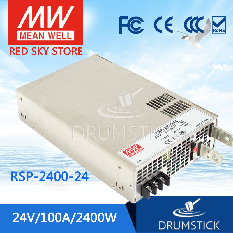 Redsky1 [MJYQ] Selling Hot! MEAN WELL original RSP-2400-24 24V 100A meanwell RSP-2400 24V 2400W Single Output Power Supply