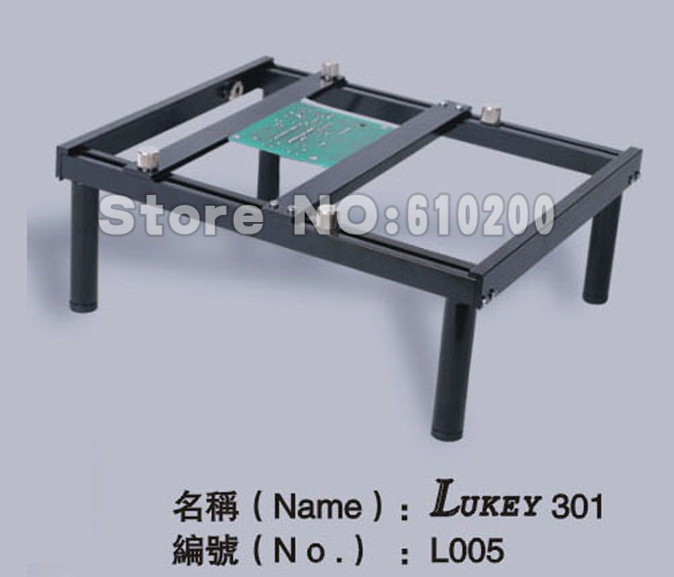 free shipping lukey 301 bga hot air gun esd working platform with pcb clamp holder welding tool. Black Bedroom Furniture Sets. Home Design Ideas