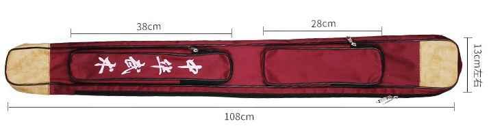 高品質厚みのキャンバスワン層武術knifepackage武道剣バッグ太極拳カンフーバッグ