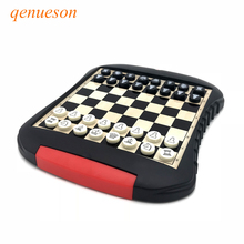 High Quality Drawer style Chess Magnetic Mini Portable ABS Plastic Chess Set Board Games For Friend Children & Kid Gift qenueson high quality chess magnetic mini portable plastic chess set board games for friends children s