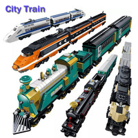 Battery Maersk Compatible With Legoe Train Container Train Freight Train Building Blocks Educational Toys For Children Gifts