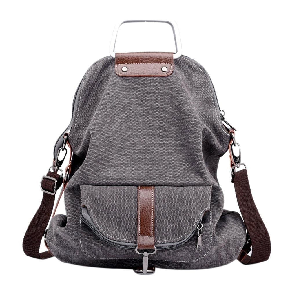 1710ee3661303 FGGS-Vintage Leinwand Rucksack Für Frauen Schule College Reise Laptop  Tragbare Rucksack