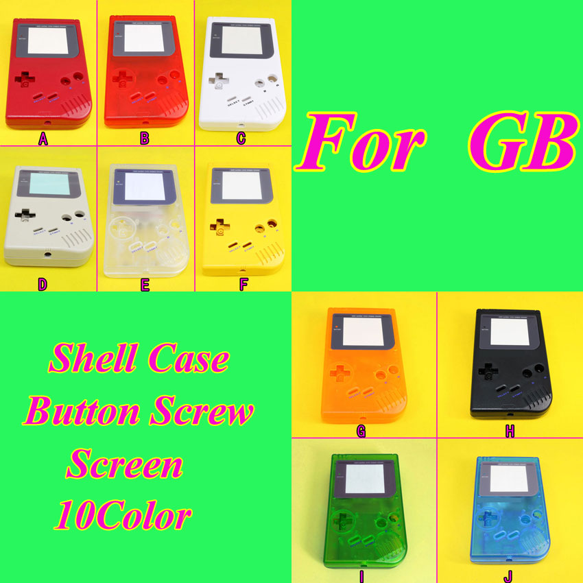 1Piece New Full Housing Shell Case for Nintendo Gameboy Classic for GB DMG GBO,10 Color