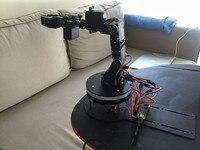 Алюминиевый робот 5 DOF Arm Clamp Claw Mount Kit механический робот arm kit + PS2 + 32 канала плата управления + USB провод