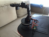 Aluminium Robot 5 DOF Arm Clamp Claw Mount Kit Mechanical Robot arm kit+PS2+32channel control board+USB wire