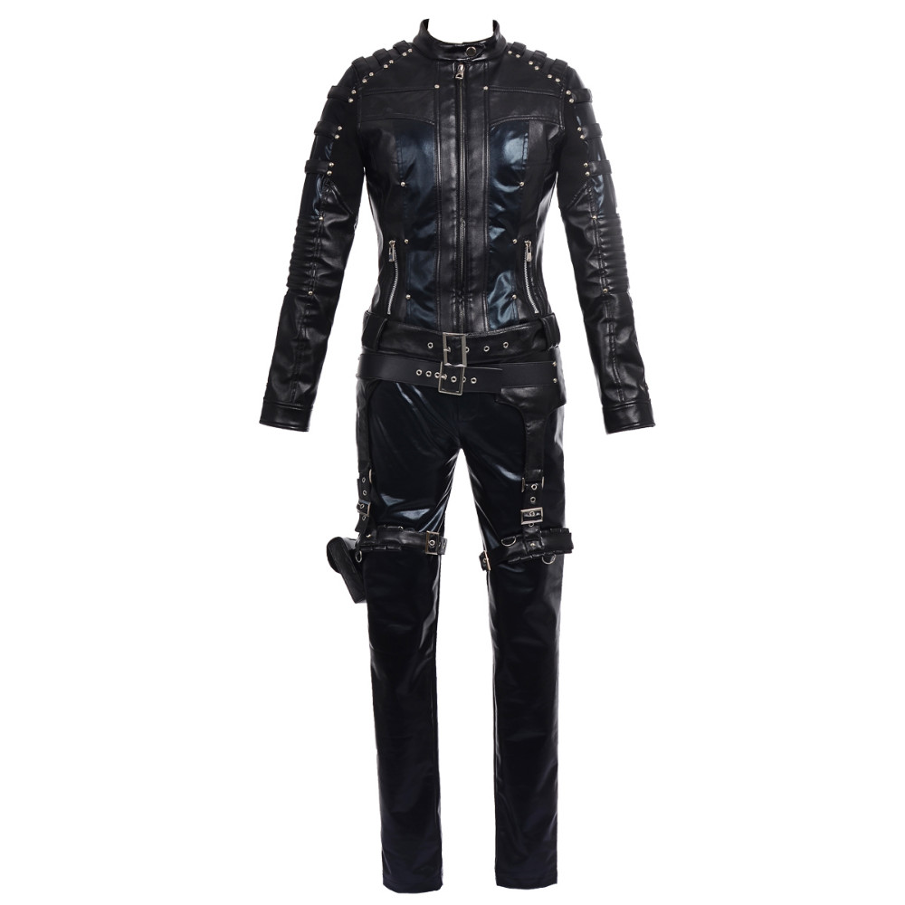 2016 new arrival green Arrow costume Black Canary Dinah Laurel Lance Cosplay Costume high quality women leather outfit full set