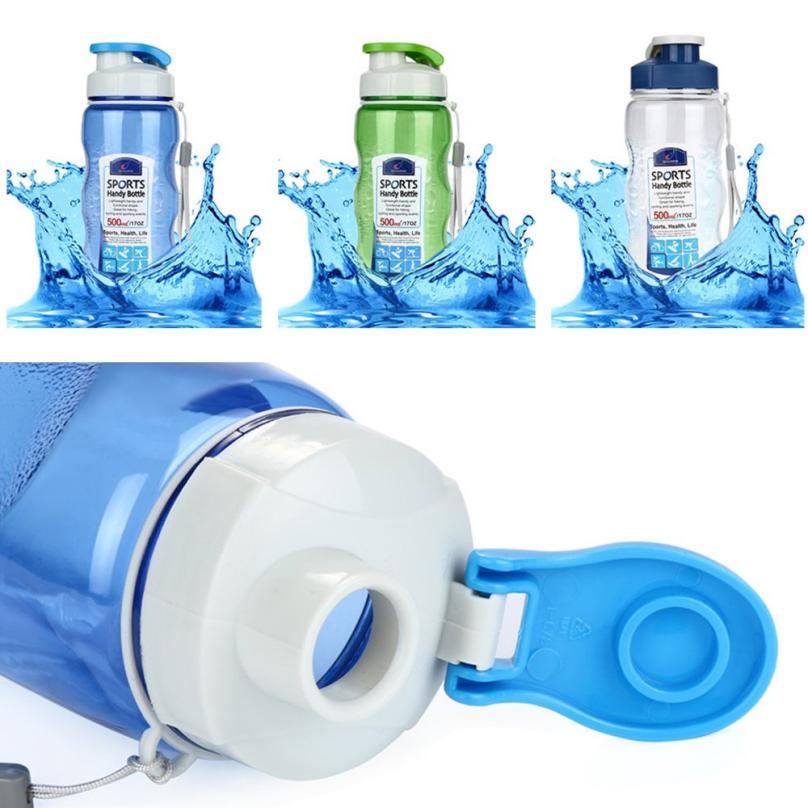 Portable Travel Sport Tea Water Seal Bottle 500ml Camping Hiking Travel Bottle Home Drink Pocket Cup Drinking Bike Bottle 0PJ5