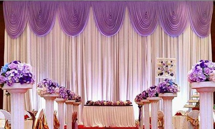 2018 new party stage backdrop wedding decoration backdrop 10ft 2018 new party stage backdrop wedding decoration backdrop 10ft 20ft with lilac top swag banquet venue decoration in party backdrops from home garden on junglespirit Choice Image