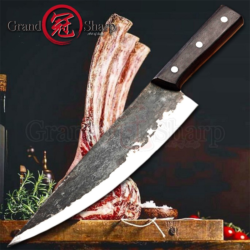 Handmade Chinese Knife Clad Forged Steel Chef Knife  Meat Slicing Butcher Kitchen Knives Made in China Kitchen Knives HotHandmade Chinese Knife Clad Forged Steel Chef Knife  Meat Slicing Butcher Kitchen Knives Made in China Kitchen Knives Hot