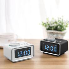 Discount! Multi-function FM Radio Alarm Clock Snooze Indoor Thermometer Dual USB Port Charger LCD Clock @LS