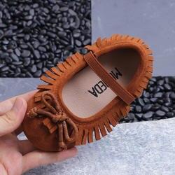 Обувь для девочек замшевые вечерние кисточкой девушка принцесса обувь маленьких Малыш обувь Sapatos Menina платье Туфли без каблуков Chaussure Fille
