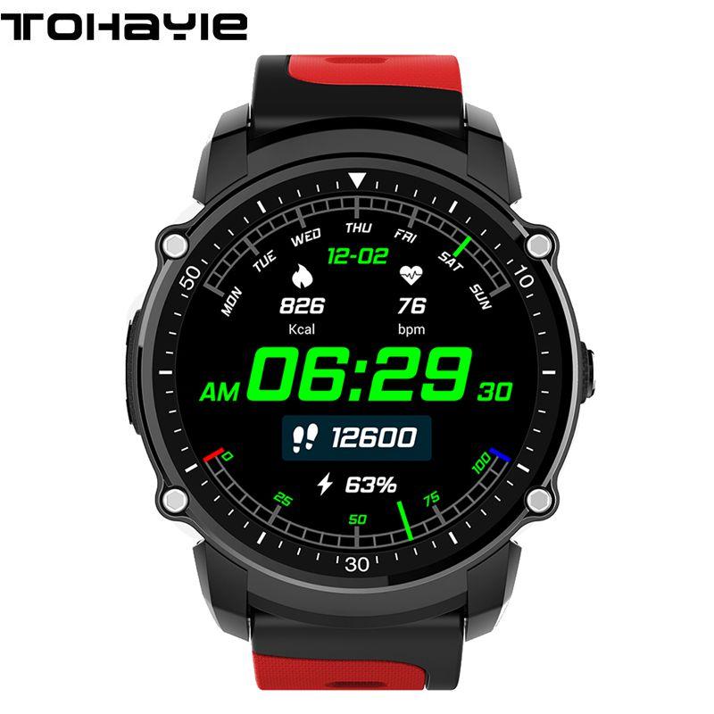 ToHayie FS08 Bluetooth Smart Watch Phone Heart Rate Monitor GPS Watch IP68 Waterproof Smartwatch Sport Bluetooth Smart Bracelet no 1 f2 ip68 bluetooth smartwatch green
