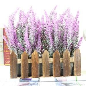 Image 2 - Romantic Provence decoration lavender flower silk artificial flowers grain decorative Simulation of aquatic plants