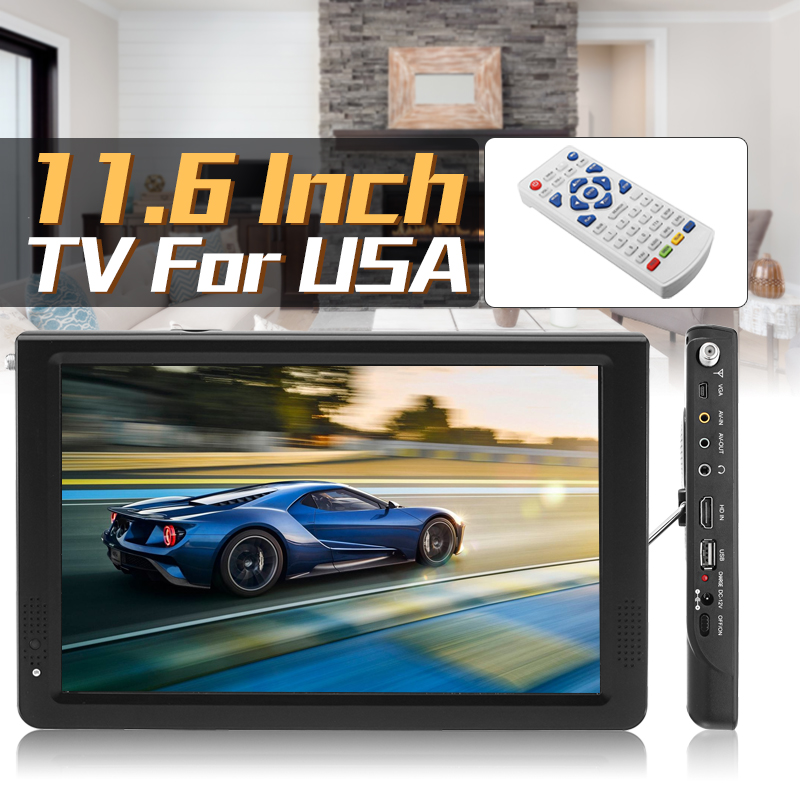 11.6 Inch HD Digital Analog LED TV Player 16: 9 Portable Smart TV Television Player 1080P DVB-T-T2 TFT-LED Screen USB/AV/TF/ MP3 adriatica часы adriatica 3143 2113q коллекция twin