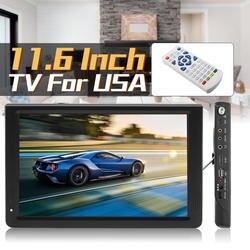 11,6 дюймов HD цифровой аналоговый светодио дный ТВ плеер 16: 9 Портативный Smart ТВ телевидение игрока 1080 P DVB-T-T2 TFT-светодио дный Экран USB/AV/TF/MP3