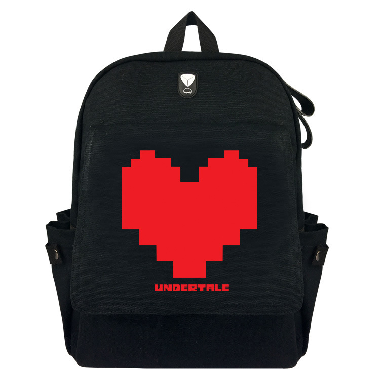 Game Undertale Legend Backpack Student Bag Men's And Women's Travelling Bag Large Capacity Bag casual canvas women backpack simple cover large capacity travelling bag khaki blue rose red and green colors big and small