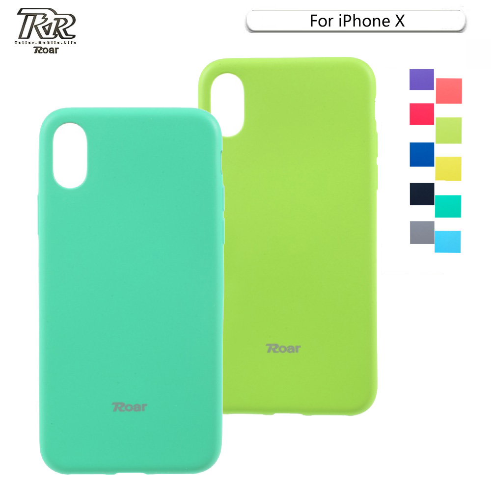 Roar For Iphone X Phone Case All Day Series Slim Pure Matte Soft Goospery 7 Feeling Jelly With Hole Black Back Mobile Cover 10 Capa Shell