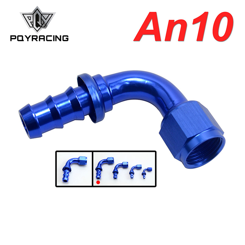 Generous Pqy - An10 10an An-10 90 Degree Blue Push On Lock Socketless Hose End Fitting Adapter Pqy-sl2090-10-011