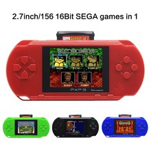 2.7 Inch 16 Bit SEGA Video Game Console Retro Game Handheld Player Portable Game Console Free 156 SEGA games designed for SEGA free shipping hot sale 2 6 inch retro handheld game console portable video game console classic free 600 games nes gift for kid