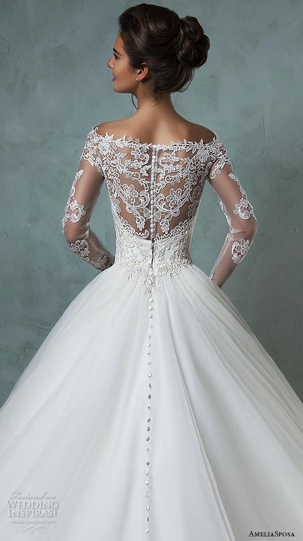 Vestido de novia 2017 cheap lace wedding dresses long for Plus size wedding dresses with sleeves cheap